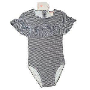 Country Road Girl Frilly Striped 1-Piece Bather, 7